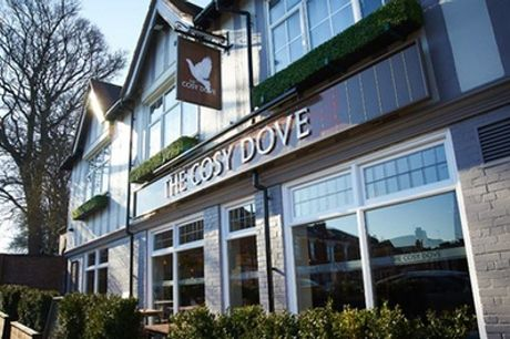 Burger and Fries for Two or Four with Optional Beer or Glass of Wine at Cosy Dove Pub And Dining