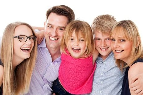 One-Hour Family Photoshoot with Prints, Digital Image and Voucher at Luxus Studios