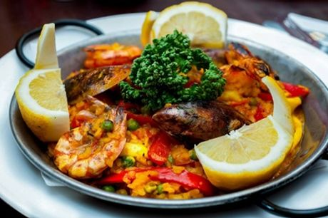 Spanish Starters and Paella or Tapas and Optional Main with Glass or Bottle of Wine for Two at Bar Gansa