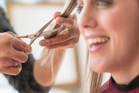 Cut, Blow-Dry and Moroccan Oil Treatment at Code Hair & Beauty