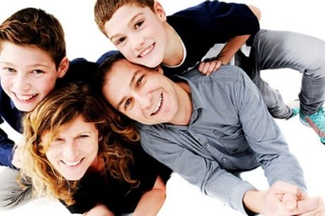 Family Photoshoot for Up to Eight People with a Canvas and Four Prints at Studio Blink