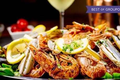 Mixed Seafood Platter with a Glass of Prosecco Each for Two or Four at The Old Sail Loft Restaurant