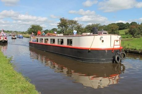 Canal Cruise with Lunch or Three-Course Dinner for Two or Four at Boatel Party Cruises