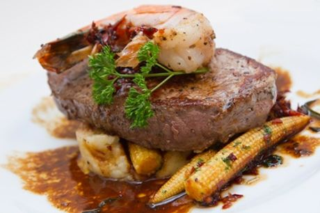 Two-Course Meal for Two or Four at Surf and Turf Sheffield