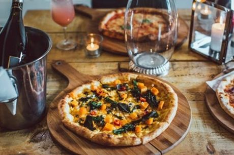 Choice of Pizza and a Lager or Glass of Wine for Two or Four at Craft and Dough, Two Locations