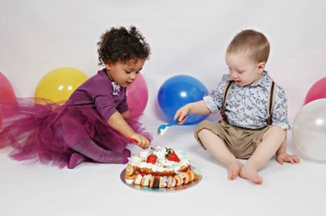 Kids Cake Smash or Bump to Baby Photoshoot With Prints at Cute Angels
