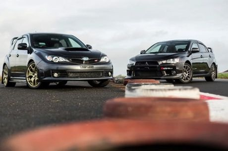 Subaru Vs Evo Driving Experience for One or Two at Drift Limits