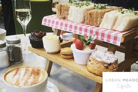 Afternoon Tea with Bottle of Prosecco for Two at Urban Meadow Cafe - DoubleTree By Hilton