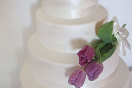 Regular or Vegan Two-Tier Celebration Cake or Three-Tier Cake at Bad Ass Cakes