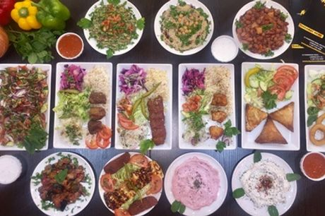 Seven Meze to Share for Two or Four with Glass of Wine Each at My Sheesh Restaurant