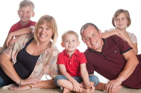 Family Photoshoot With Four Prints or Framed Image at De La Motte Photography