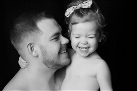 Father and Family Photoshoot with Prints and Refreshments at Wink Photography, Choice of Locations