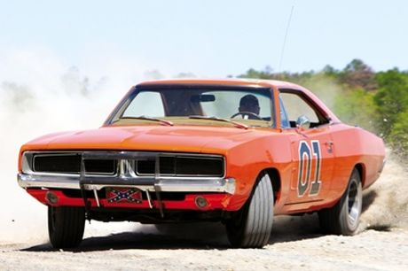 Three, Six or Nine Miles in General Lee Dodge from Dukes of Hazzard with Car Chase Heroes