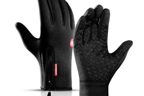 Water- en Winddichte Tech Fleece Touchscreen Handschoenen. Ook altijd last van koude vingers in de winter als je een berichtje wil sturen met je smartphone? Door de speciaal ontworpen vingertoppen van deze handschoenen reageert het touchscreen zelfs op de