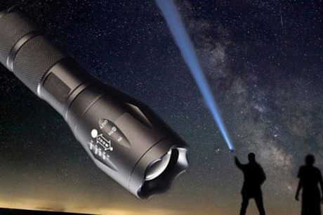 Militær Genopladelig Lommelygte - Super Kraftig 500 meter lys