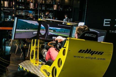 2 of 4 sessies van 10 minuten in de racesimulator bij Exype in Waterloo