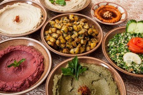 Vegane Meze-Reise durch den Orient mit Dessert und Tee für 2 oder 4 Personen im Tahla Restaurant (31% sparen*)
