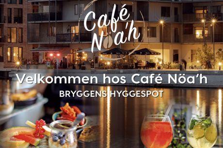 Spar 15% i aften: Få en lækker café-oplevelse på Islands Brygge. Café Nöa'h er klar med både brunch, frokost- og aftenretter - alle af sunde friske råvarer. Bestil bord via R2N og få rabat på både mad og drikke.