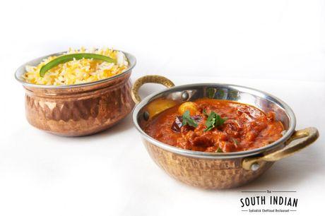 Spar 20% i aften: Prøv det sydindiske Chettinad-køkken og få en smagsoplevelse udover det sædvanelige. The South Indian leverer god smag i hyggelige oplevelser. Reserver med R2N og få rabat på hele regningen.