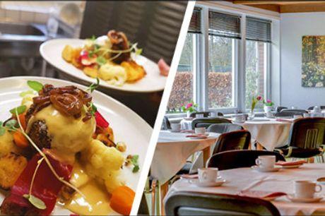 Dejligt ophold for 2 inkl. mad! - Besøg Abild Kro & Hotel og nyd et 2 nætters ophold for 2 inkl. morgenbuffet, vekomstkaffe og kage samt 3 retters menuer begge dage. Værdi kr. 2648,-