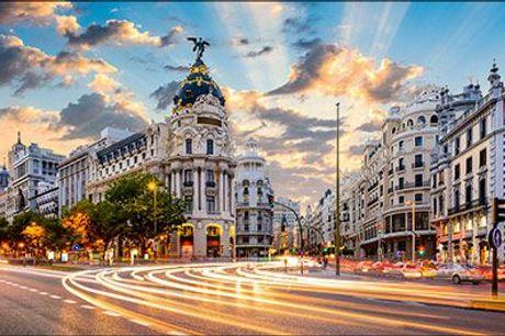 Madrid - besøg Spaniens hovedstad - Ophold for 2 pers. på Hotel Victoria 4 inkl. morgenmad og velkomstvin mm., vælg ml. flere tilbud, normalpris op til kr. 3668,-