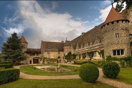 Gourmetophold i Frankrig - Slotsophold for 2 personer inkl. vinsmagning, gourmetmenu, morgenmad, vælg ml. flere ophold, værdi op til kr. 11.325,-