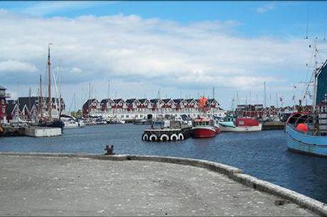 Ophold med stor fiskebuffet - køb i dag! - Dejligt ophold på Bagenkop Kro på Langeland inkl. kaffe og kage, populær fiskebuffet god og morgenmad. For 1 person - værdi kr. 923,-