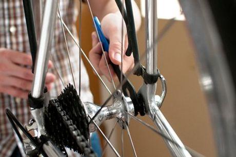 Fahrradinspektion, optional mit Wertgutschein über 10 € anrechenbar auf Teile bei Fahrradstation (bis zu 76% sparen*)