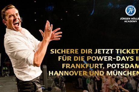 Power Days mit Erfolgs-Coach Jürgen Höller in 2020 in Frankfurt, Potsdam, Hannover, München (76% sparen)