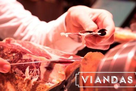 Degustación gourmet de ibéricos para dos personas en Viandas (con 50% de descuento) en 9 ubicaciones