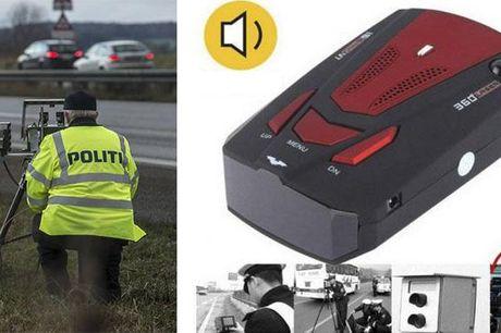 Få en alarm til at advare dig om fartkontroller. Placer alarmen i forruden af bilen og vær evigt forberedt på de store og små veje