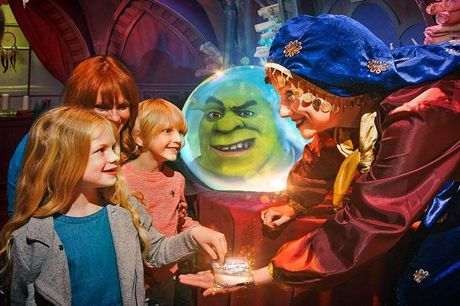 DreamWorks Tours: Shrek's Adventure! London - Interactive Fun with your Favourite Characters. Step into and star in your very own hilarious, mad-cap adventure to the kingdom of Far Far Away surrounded by Shrek and his much loved Dreamworks friends Rescue