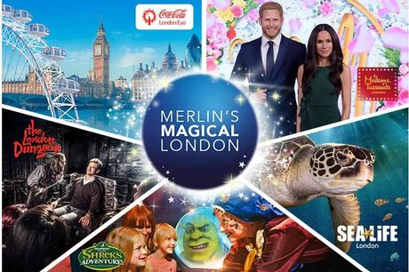 Merlin's Magical London - Shrek's Adventure, Madame Tussaud's, SEALIFE Aquarium, The London Dungeon & The London Eye!. Experience some of London's best attractions for less!  Visit SHREK'S Adventure!, The London Dungeon, Madame Tussauds London, SEA L