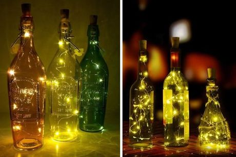 £3.99 instead of £14.99 for a two-piece set of LED wine bottle decorative lights from London Exchain Store - save 73%