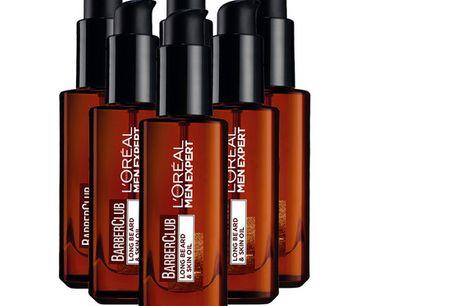 6x L'Oréal BarberClub Long Beard & Skin Oil