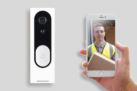 £29.99 instead of £75 (from Wishwhooshoffers) for a slim WiFi smart security doorbell - save 60%