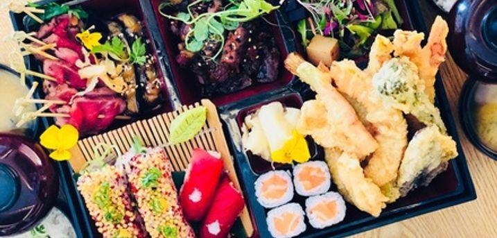 Tokudai Platinum Bento Box with Miso Soup for Up to Four at Kouzu