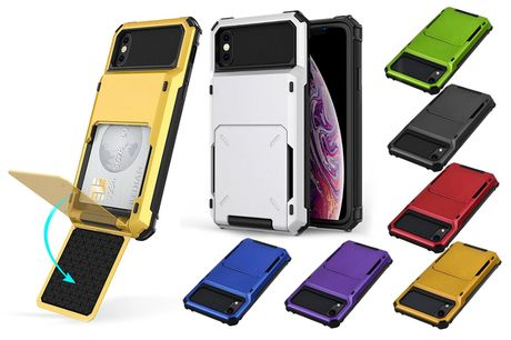 £4.49 (from WishWhooshOffers) for a shockproof rugged phone case for iPhone with a card holder!