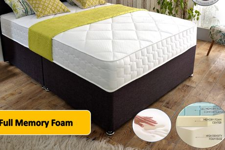 From £219 for a cool-flex full gel memory foam from Mattress Haven - save up to 74%