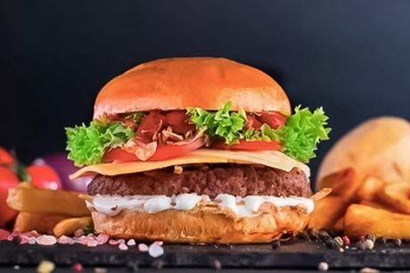 Hausgemachter Hamburger mit Pommes frites und Tiramisu für 2 oder 4 Personen im Le Bon Coin (bis zu 34% sparen*)