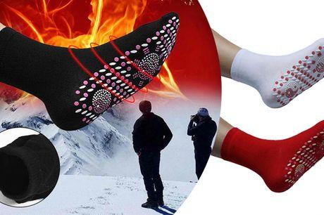 Behagelige turmalinsokker der holder dine fødder varme og modvirker hævelse