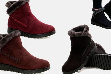 Stilfulde vandtætte ankelstøvler med ultra-blød plys-foring