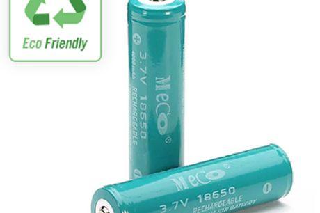 Batteries 18650 Li-ion rechargeables. Économisez de l'argent et préservez l'environnement avec ces piles rechargeables. Rechargeable jusqu'à 500 fois. Un circuit de protection contre les surcharges et les décharges assure la sécurité. Utilisez-le pour ali