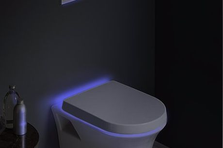 Capteur de mouvement à LED pour cuvette de toilette. Regardez où vous allez lors de vos sorties nocturnes aux toilettes. Choisissez une ou toutes les huit couleurs à éclairer en rotation pour une expérience de toilette amusante. Les capteurs de détection