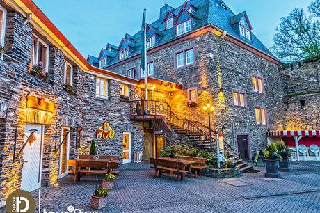 Rhein - 4*S Romantik Hotel Schloss Rheinfels - 5 Tage für Zwei inkl. Halbpension