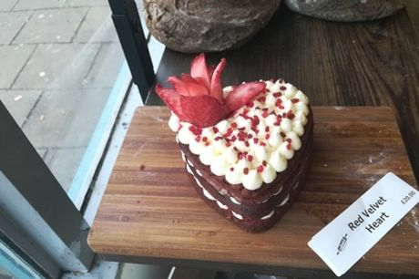 Valentine's Heart-Shaped Red Velvet Cake with Cream Cheese from Intrepid Bakers