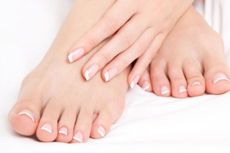 Gel on Hands or Feet or Both, or Gel French Polish or Gel Nail Glitter at The Beauty Spot