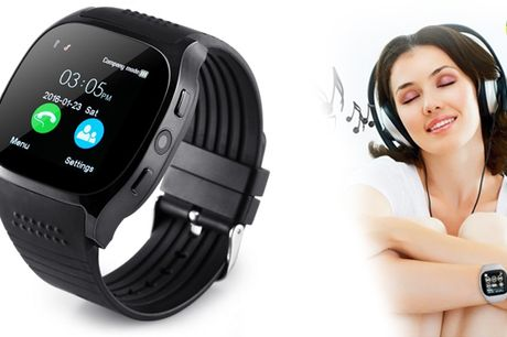 Smart watch med indbygget kamera og bluetooth