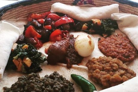 Two-Course Ethiopian Meal with Side for Two at Abyssinia Kitchen