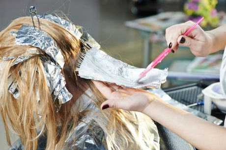 A half-head of highlights, cut and blow dry at City Hairdressers
